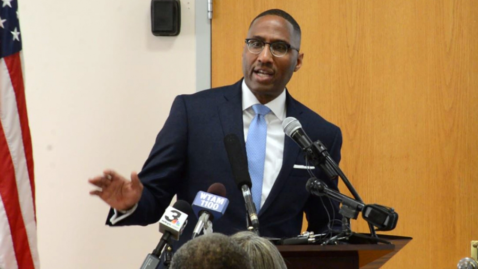 Councilman Zack Reed addressed supporters and media Wednesday afternoon in Cleveland.