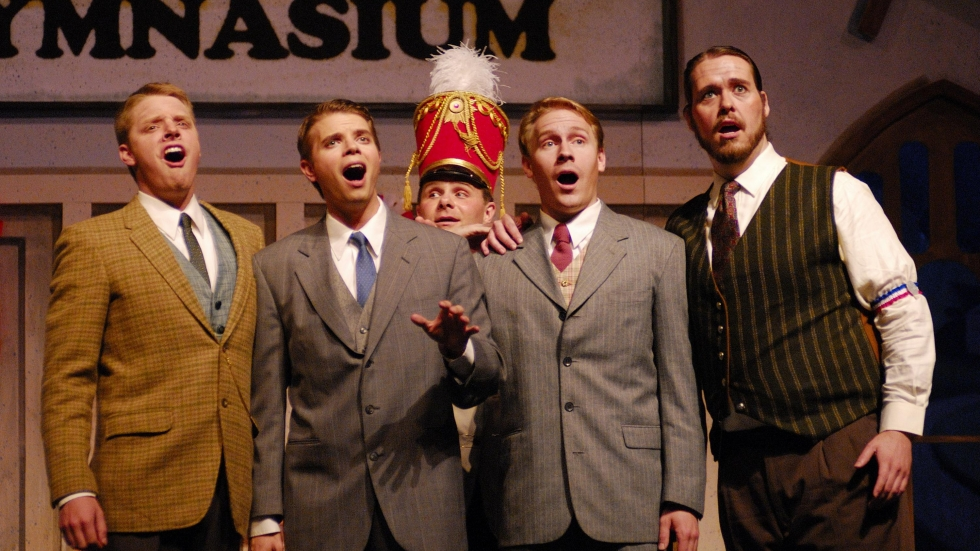 """A scene from Meredith Wilson's """"The Music Man"""""""