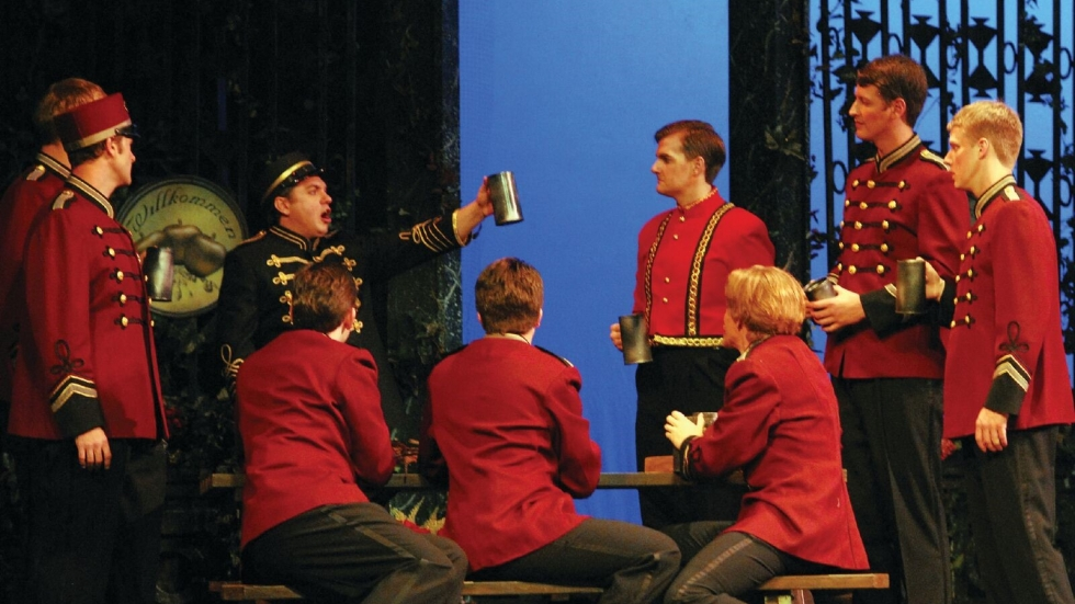 """A scene from """"The Student Prince."""" Photo courtesy of the Ohio Light Opera."""