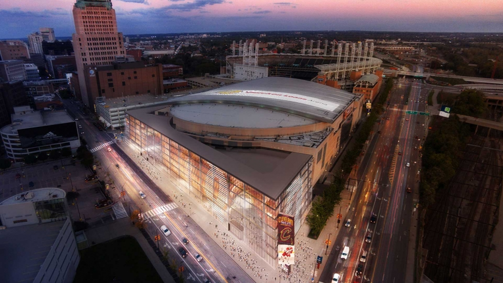 Artist's rendering of Quicken Loans Arena after the proposed $140 million in renovations.