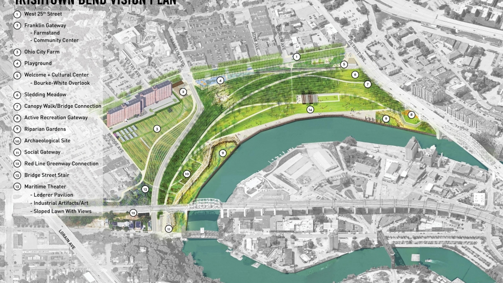 View of Irishtown Bend Plan: Image CMG, Michael Baker