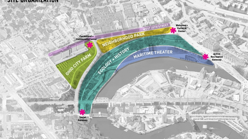 The Proposed New Sections of Irishtown Bend: Image CMG, Michael Baker