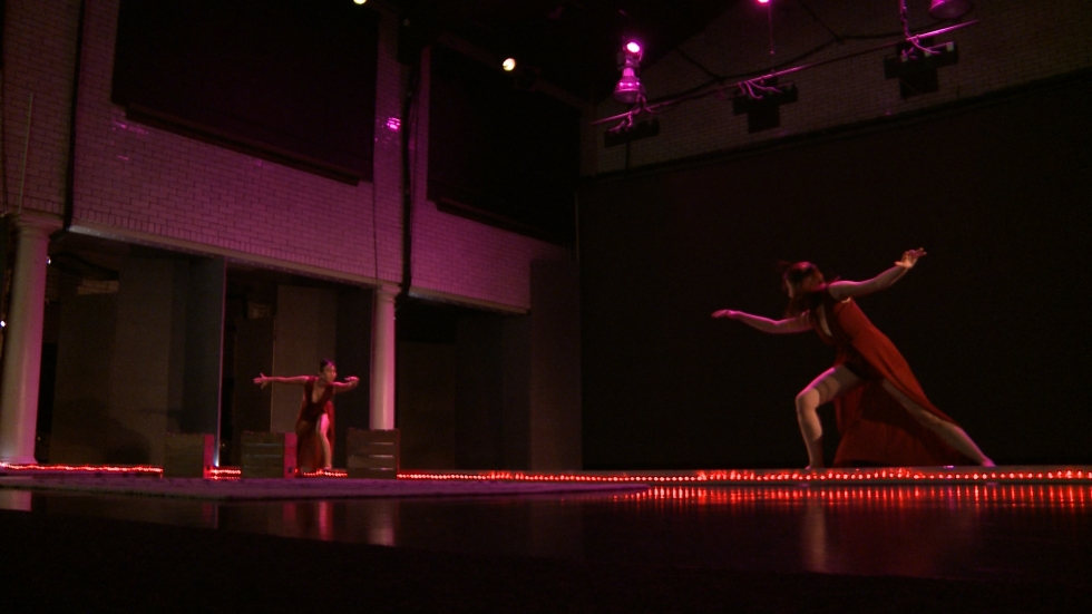 Although its not pictured, members of the audience saw holograms surrounding the dancers through the HoloLens. (Ashton Marra/ideastream)