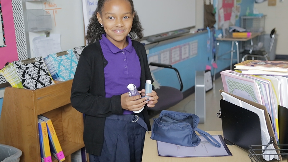 Aiyana Stevenson keeps her asthma medications in at least three places.