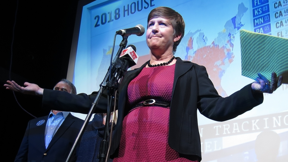 Democrat Betsy Rader telling supporters not to give up.