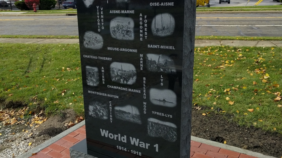 New War World I Memorial Nordonia Hills Veterans Park
