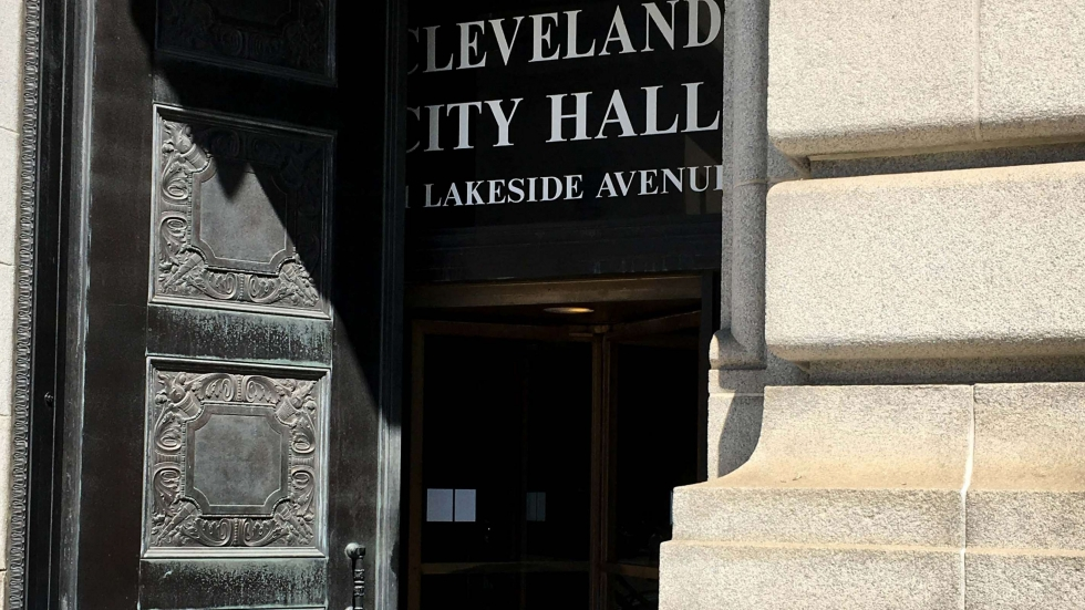 photo of entrance to Cleveland City Hall