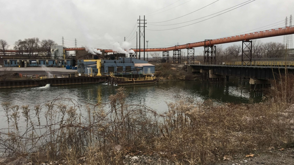 The Cuyahoga River, at the site of the 1969 fire [Elizabeth Miller/ideastream]