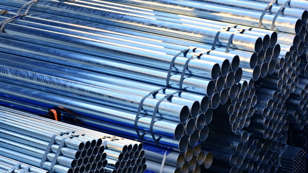 A pile of steel tubes.