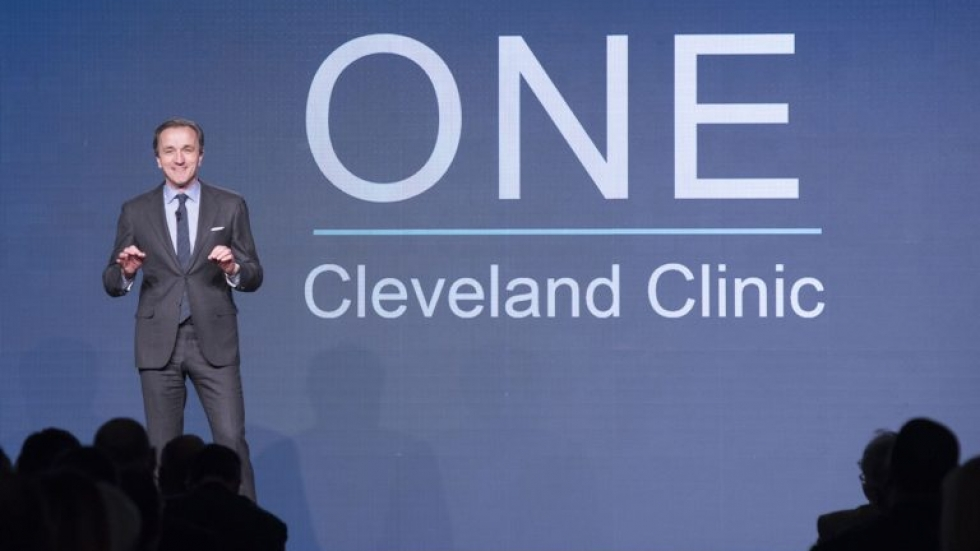 Cleveland Clinic CEO Dr. Tom Mihaljevic discussed plans to reduce caregiver burnout, continue financial rebound, and push telemedicine in his first year as CEO. (Photo: Yu Kwan Lee, Cleveland Clinic Center for Medical Art & Photography)