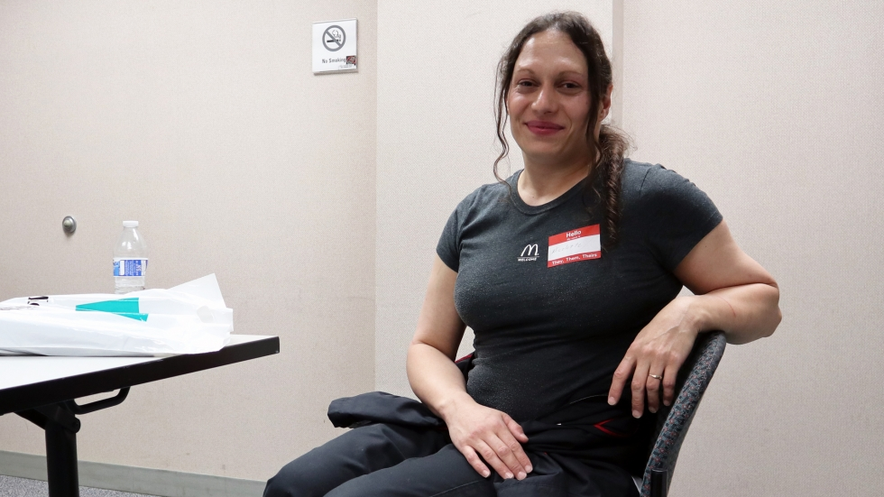 As a transgender woman, Nicolette Baldwin, 42, said that in her previous jobs, she was often the target of harassment by supervisors, coworkers, and customers. [Adrian Ma / ideastream]