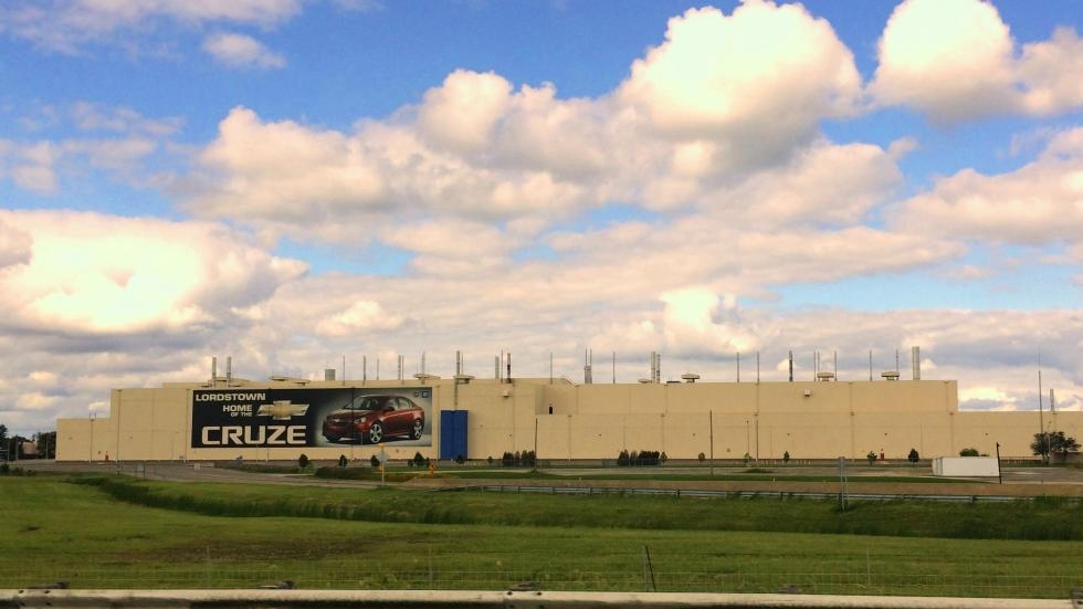 The GM factory in Lordstown produces the Chevy Cruze. [ideastream file photo]