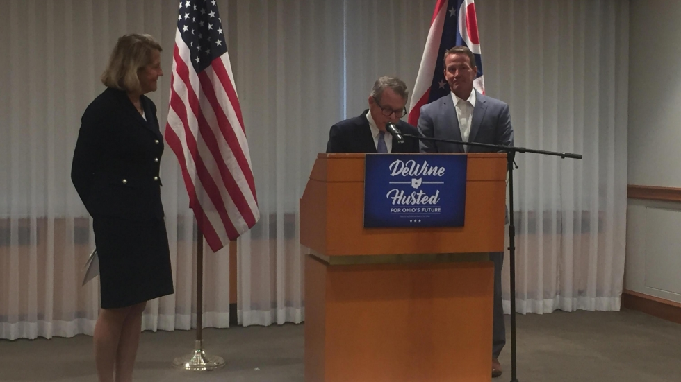 Gubernatorial candidate Mike DeWine announced a new plan to prevent chronic disease among Ohioans. [Lecia Bushak / ideastream]
