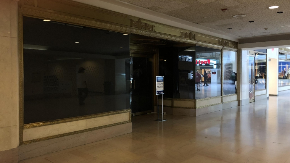 A vacant store at the Tower City mall. (George Hahn/ideastream)