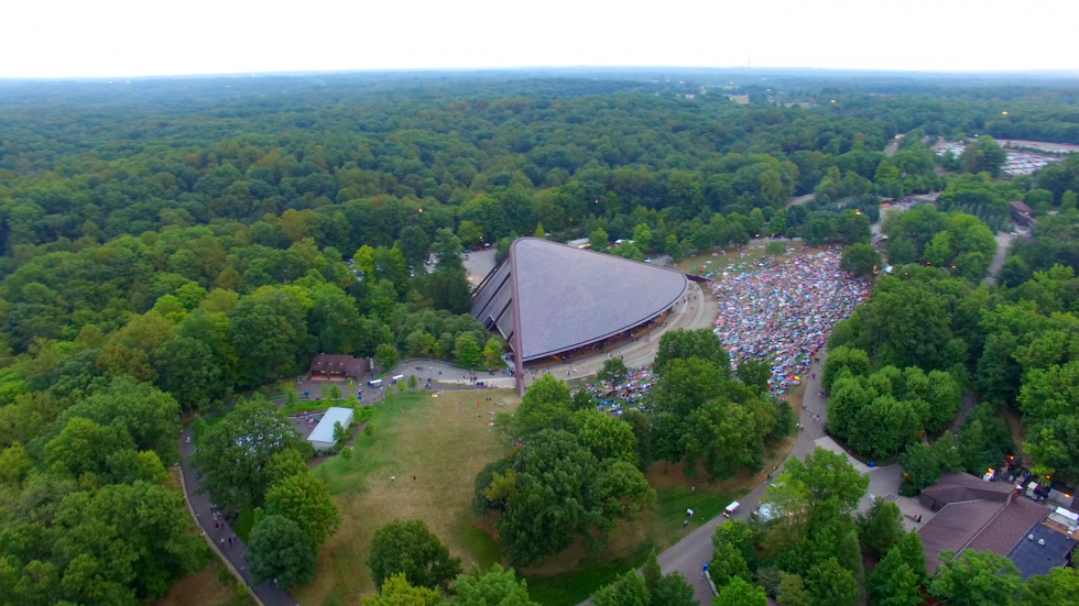 Blossom Overhead Shot.  Photo by Goldfarb-Weber courtesy of The Cleveland Orchestra