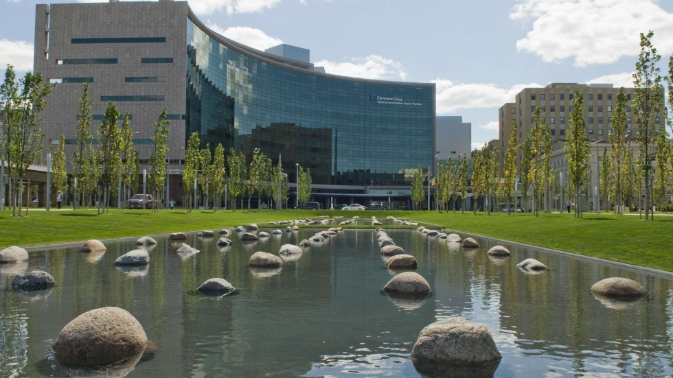 Exterior of the Cleveland Clinic complex. [Cleveland Clinic]