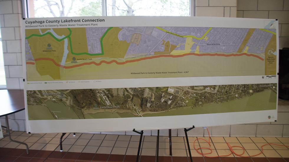 One portion of the county's proposal envisions a trail between Wildwood Park and the Easterly Waste Water Treatment Plant.