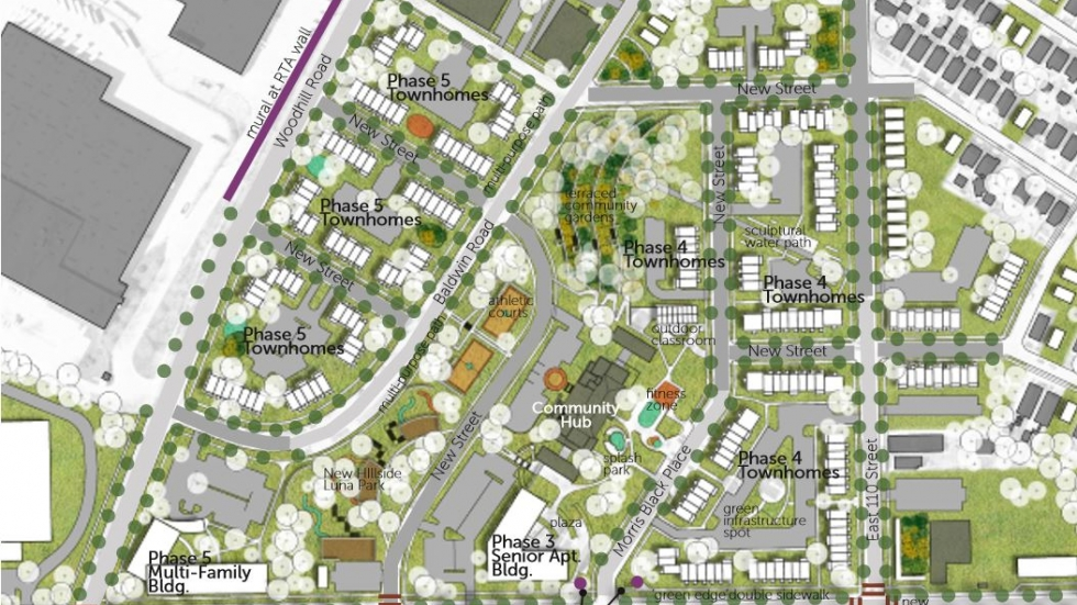 A site plan shows the proposal for Woodhill Homes.