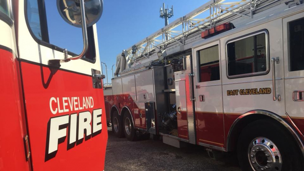 Two Cleveland Fire trucks