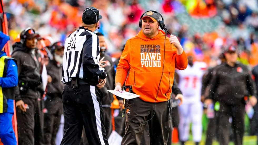 Freddie Kitchens at Sunday's game against the Cincinnati Bengals.