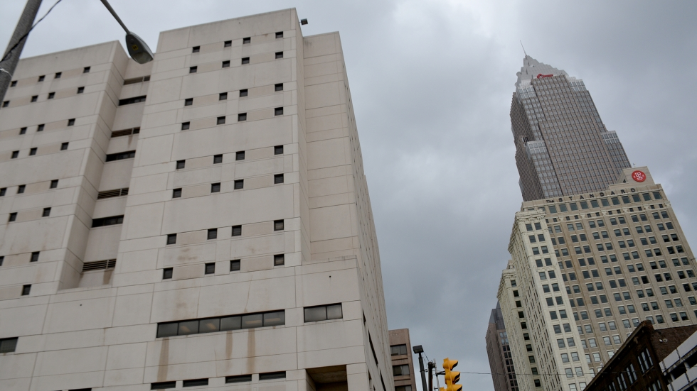 The Cuyahoga County Jail at the Justice Center in downtown Cleveland.