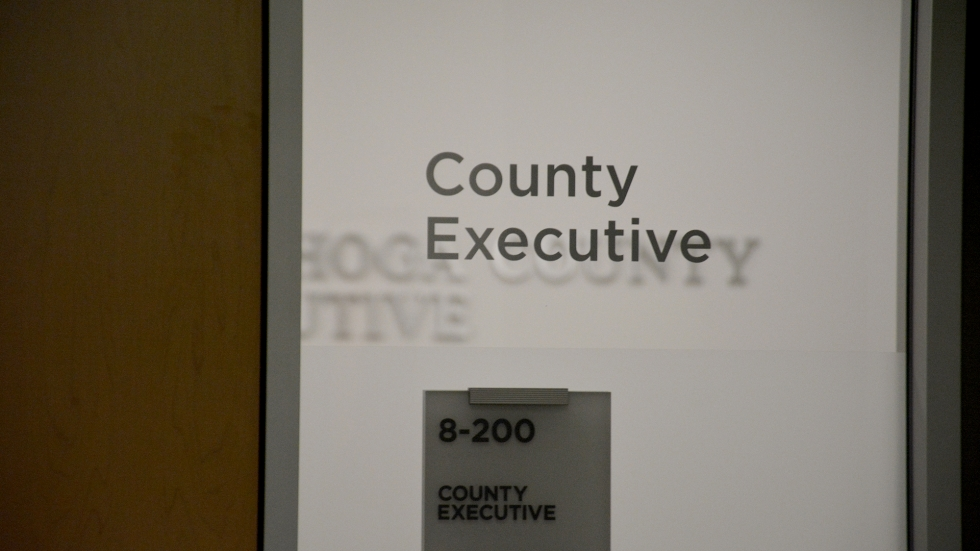 Cuyahoga County Executive Armond Budish's offices on the eighth floor of the county headquarters.