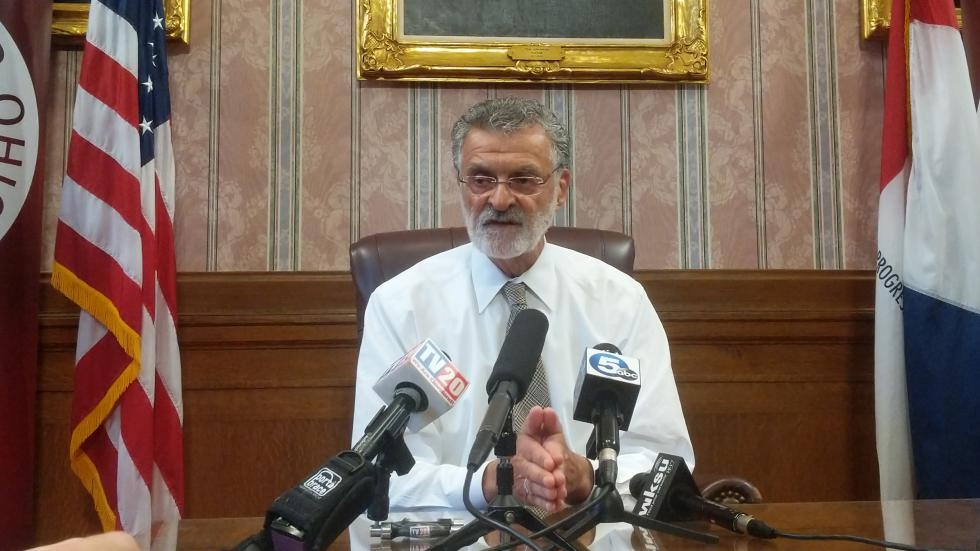 Cleveland Mayor Frank Jackson in the Red Room at city hall.