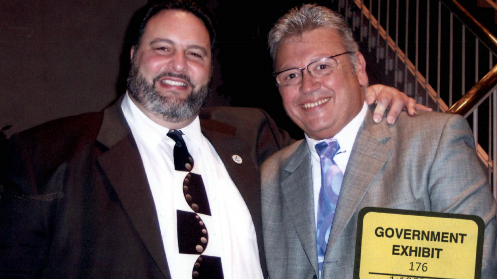 Former Cuyahoga County Commissioner Jimmy Dimora and former Cuyahoga County Auditor Frank Russo.