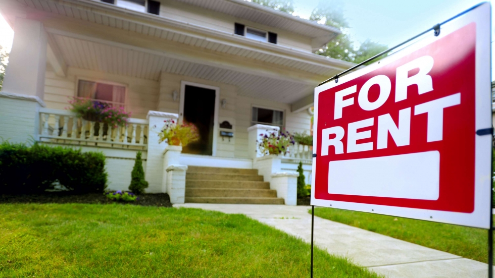 "stock photo of a ""for rent"" sign"