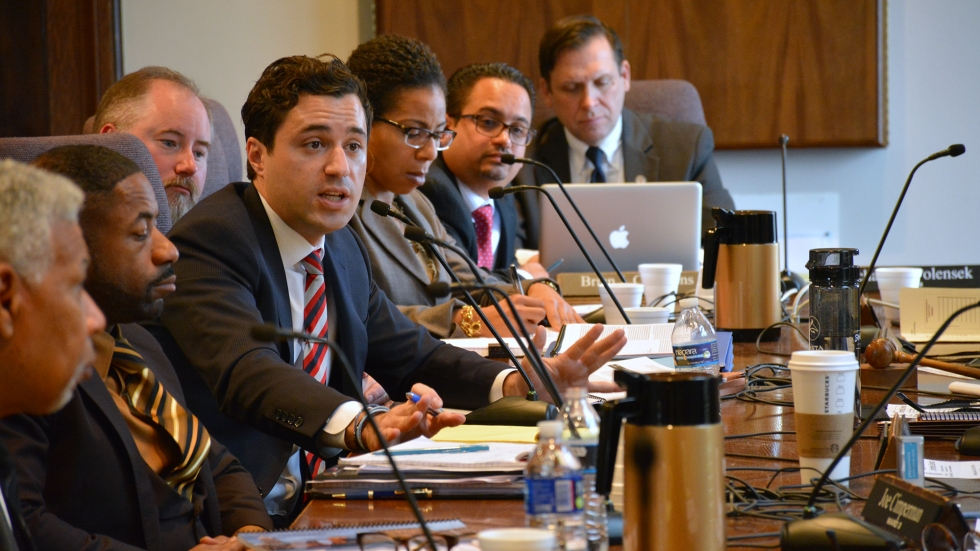 Monitor Matthew Barge and his team address Cleveland City Council in 2016.