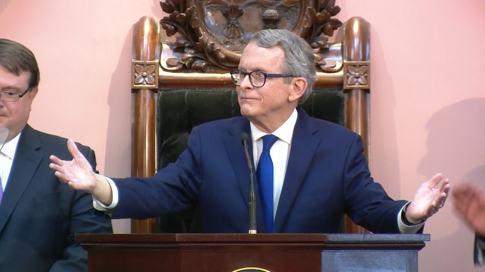 Ohio Governor Mike DeWine spoke about the opioid crisis and its effect on Ohio's foster care system during his State of the State address