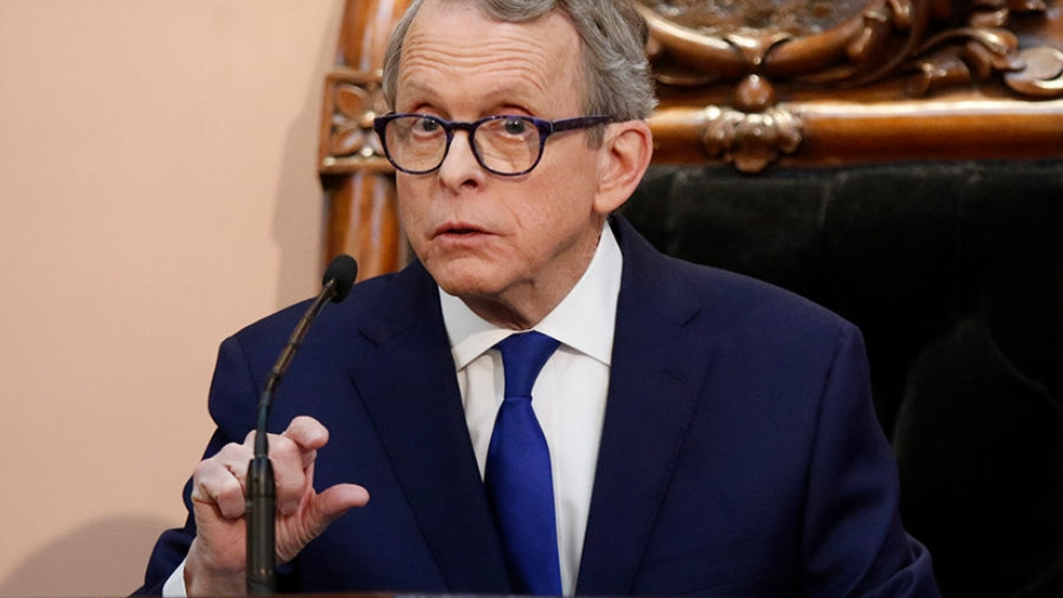 Ohio Governor Mike DeWine speaks during the Ohio State of the State address at the Ohio Statehouse in Columbus on Tuesday, March 5, 2019.