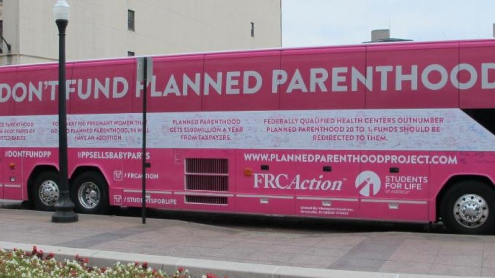Pro-Life groups rolled out bus in 2015, calling for lawmakers to defund Planned Parenthood.