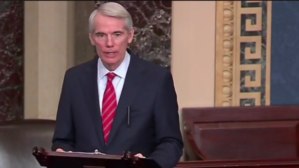 Sen. Rob Portman speaking on the Senate floor
