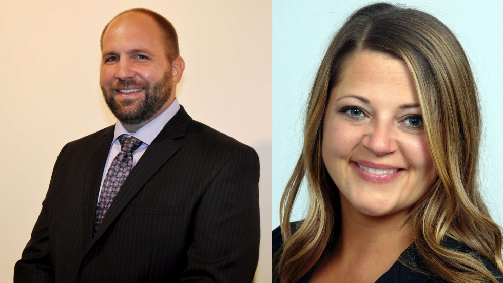 Anthony Perlatti and Shantiel Soeder, the new director and deputy director of the Cuyahoga County Board of Elections.