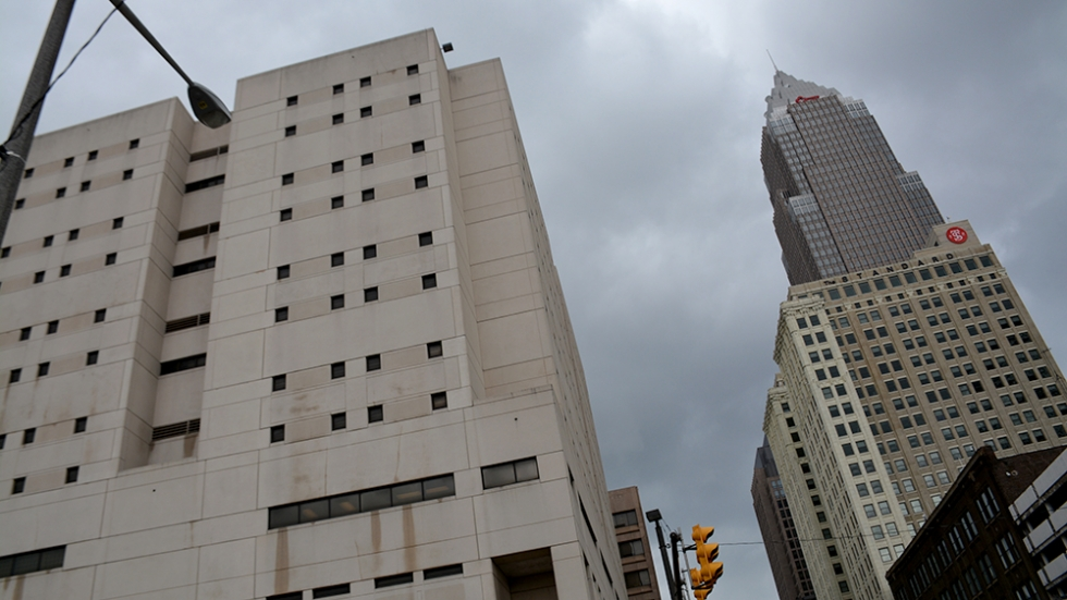 The Cuyahoga County jail in downtown Cleveland.