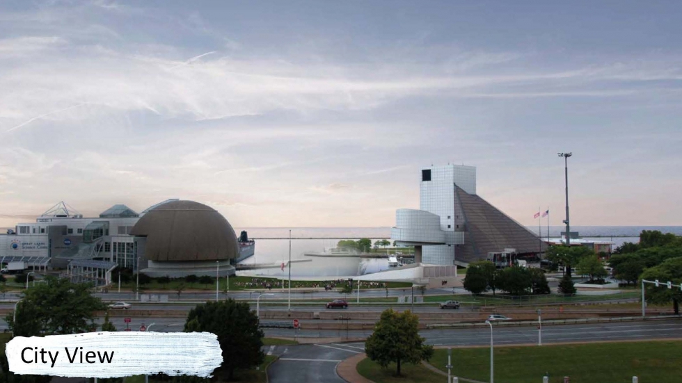 The Rock Hall presented these conceptual designs to Cleveland City Council on Wednesday.
