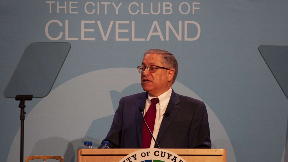 County Executive Armond Budish delivers his state of the county address.