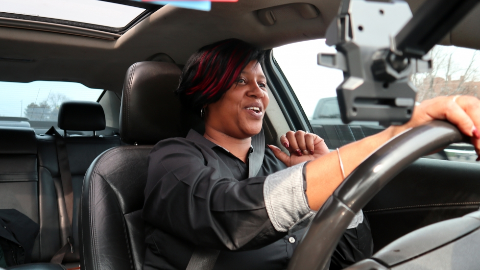 As a recruiter for Youth Opportunities Unlimited, Toni Arnold-Spikes spends a lot of time driving around town, looking for young people who may be eligible for free work training programs.