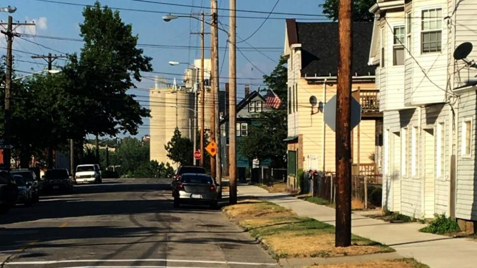 Utility poles in Cleveland's Tremont neighborhood.