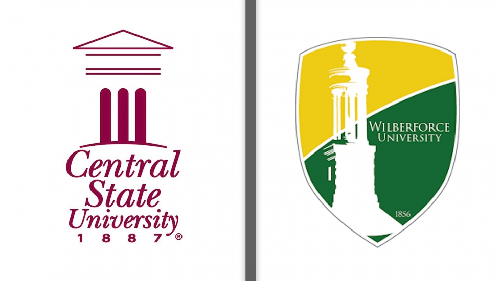 Central State and Wilburforce logos