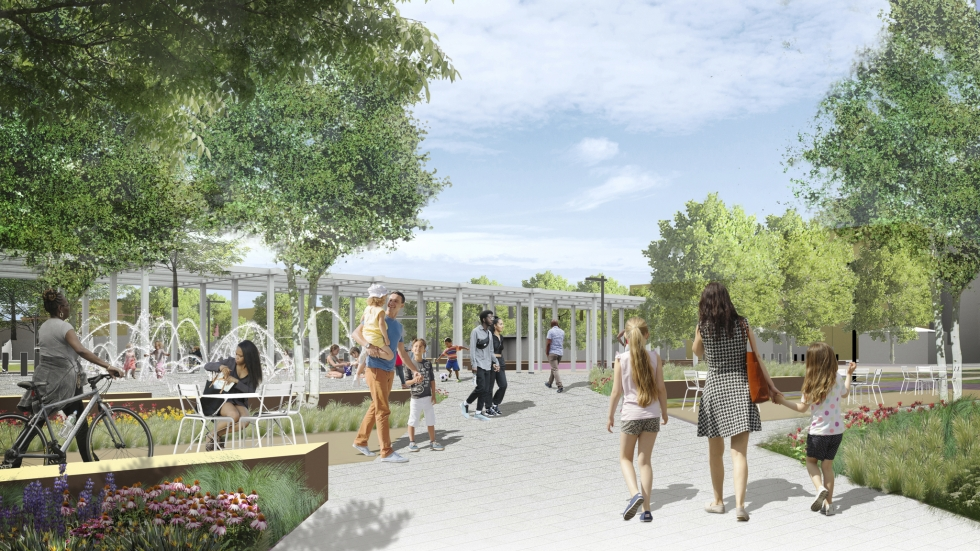 A rending of what Shaker Square will look like after the redesign