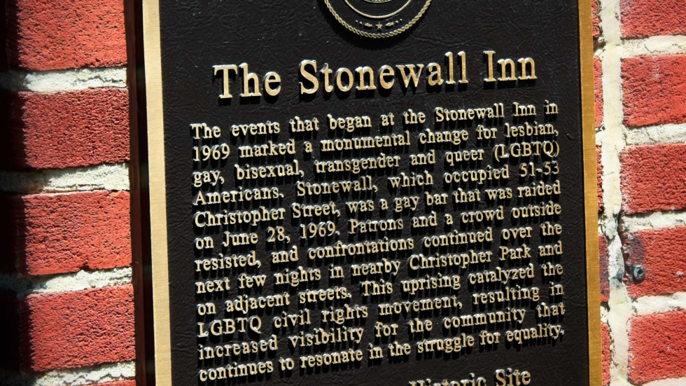 A plague about the history of the Stonewall Inn Riots.