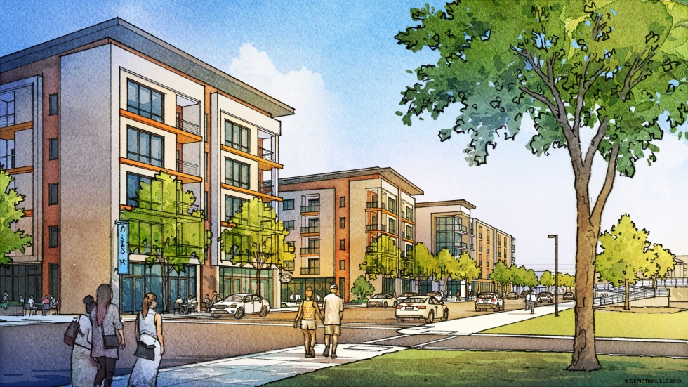 A rendering of MetroHealth's new West 25th Street mixed-income development. Construction is set to begin in 2020.
