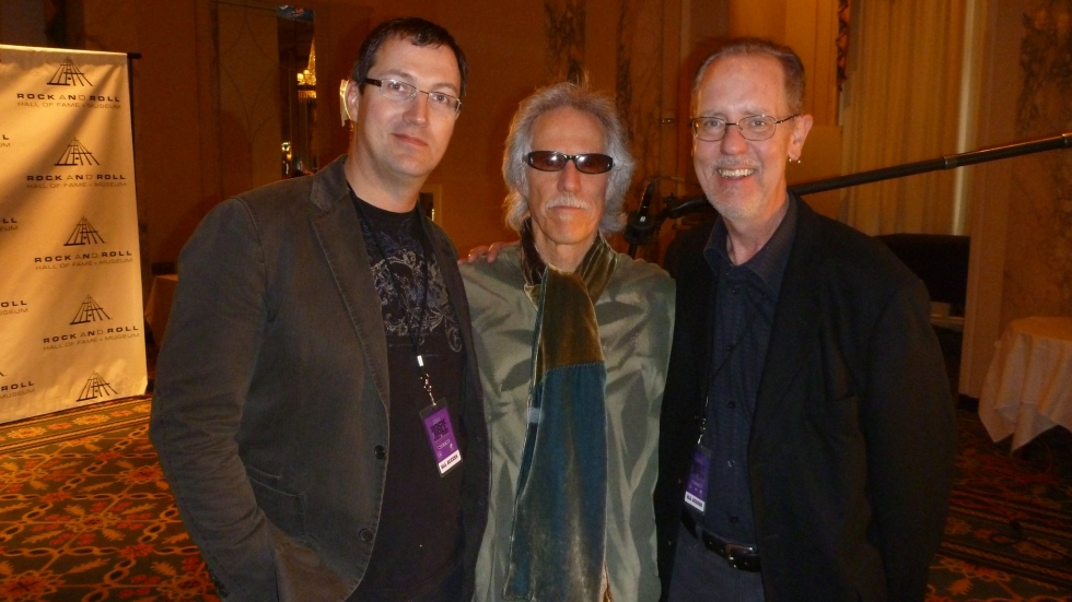 Jim Henke (R) in 2011 with the Doors drummer John Densmore and then-Rock and Roll Hall of Fame Vice President of Marketing and Communications Todd Mesek (L) at the Waldorf-Astoria in New York City on the occasion of the Doors Induction to the RRHOF. [Todd Mesek]