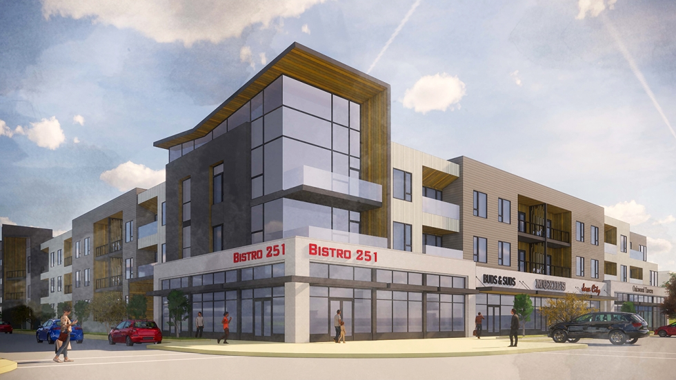 An artist's rendering of the future Belle Oaks development in Richmond Heights.