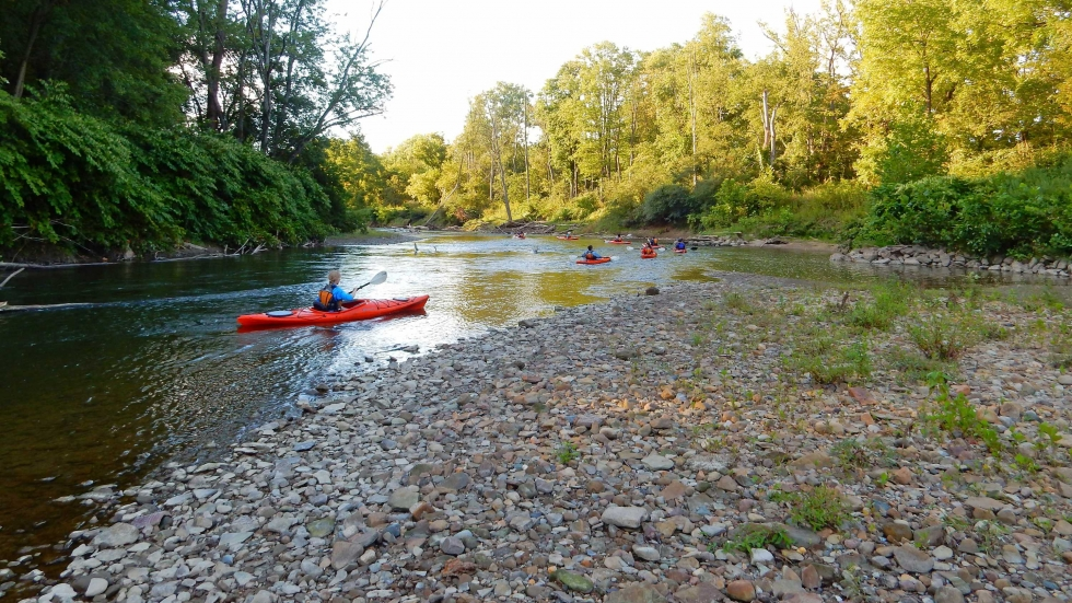 Kayakers at the Cuyahoga Valley National Park