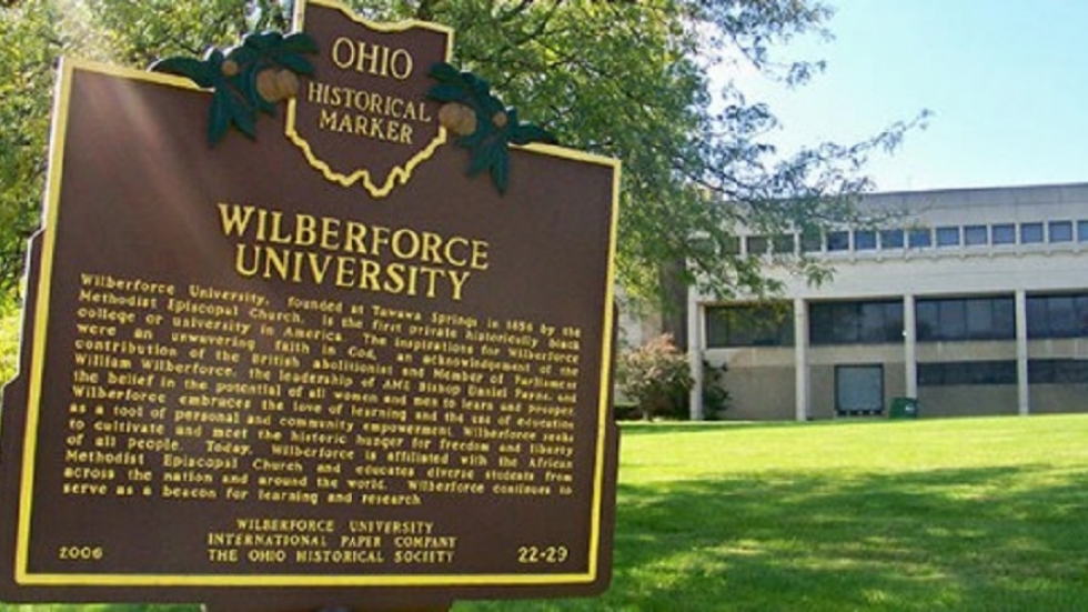 historic marker on Wilberforce University campus