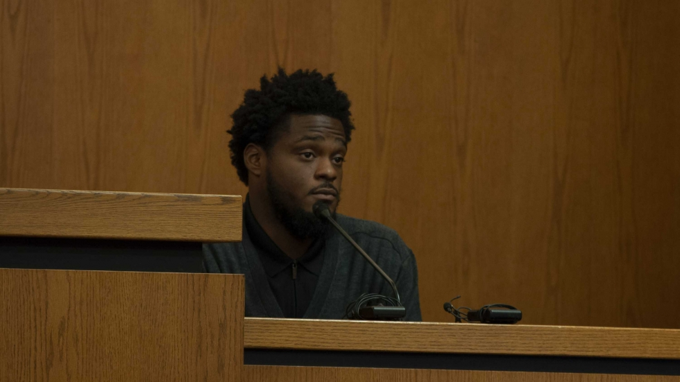 Joshua Castleberry testifies in Cuyahoga County Common Pleas Court on Sept. 18, 2019.