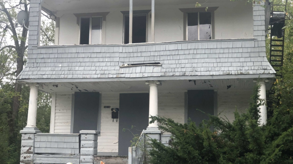 Cleveland home on E. 144th St. where several bodies were discovered [Marlene Harris-Taylor / ideastream]